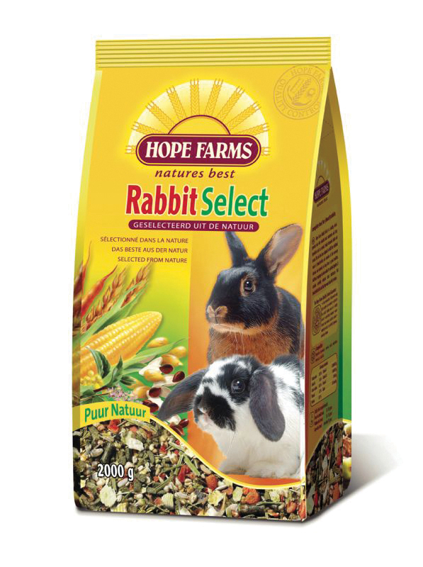 Hope farms - rabbit select meerkleurig 2 kg
