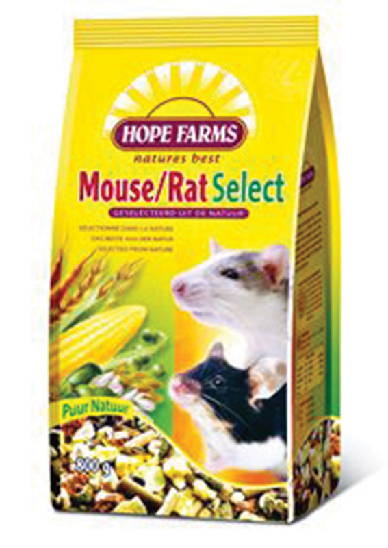 Hope farms - mouse/rat select meerkleurig 800 gr