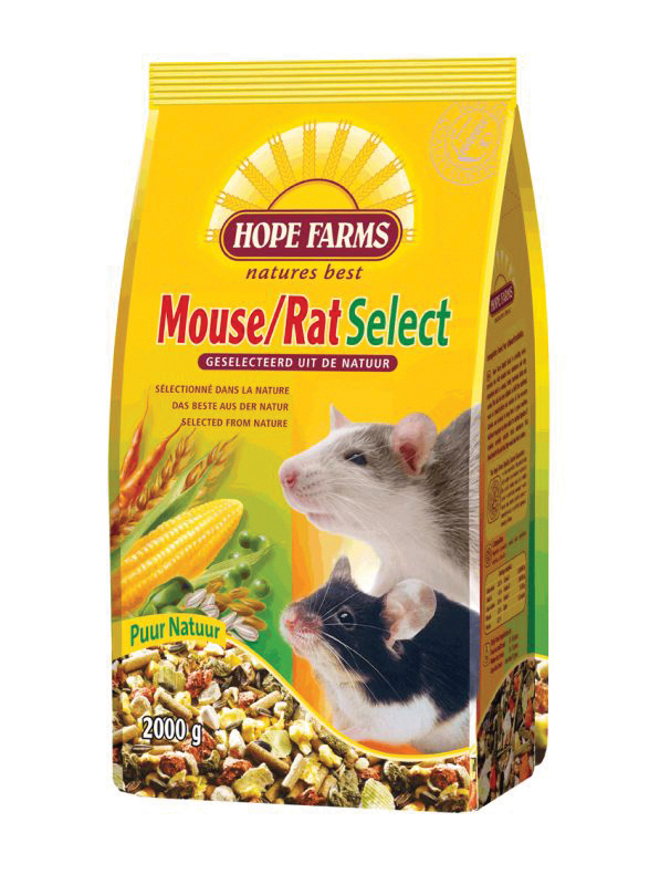 Hope farms - mouse/rat select meerkleurig 2 kg