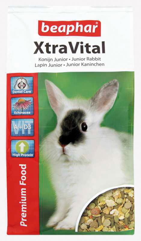 Beaphar - xtra vital konijn junior meerkleurig 1 kg