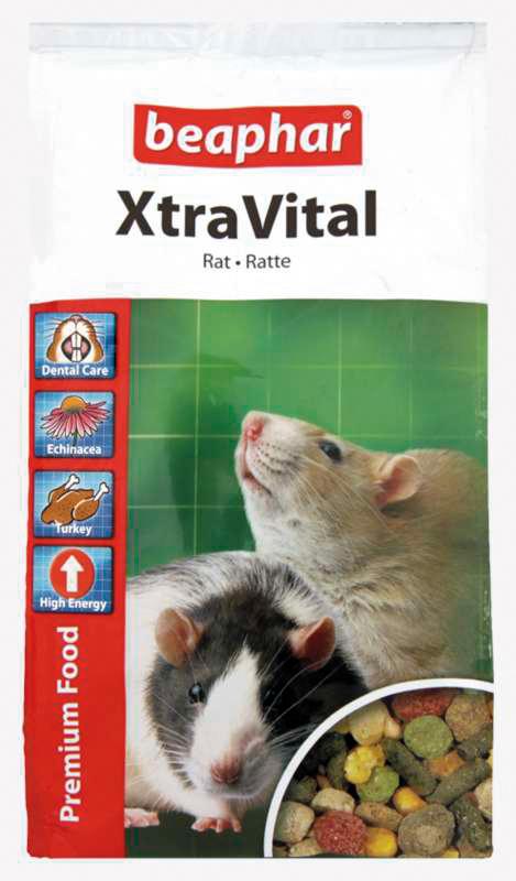 Beaphar - xtra vital rat meerkleurig 500 gr