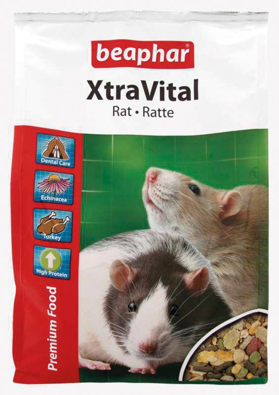 Beaphar - xtra vital rat meerkleurig 2,5 kg