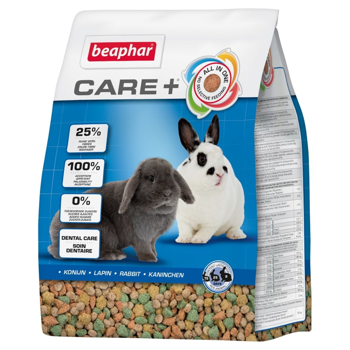 Beaphar - care+ konijn meerkleurig 5 kg