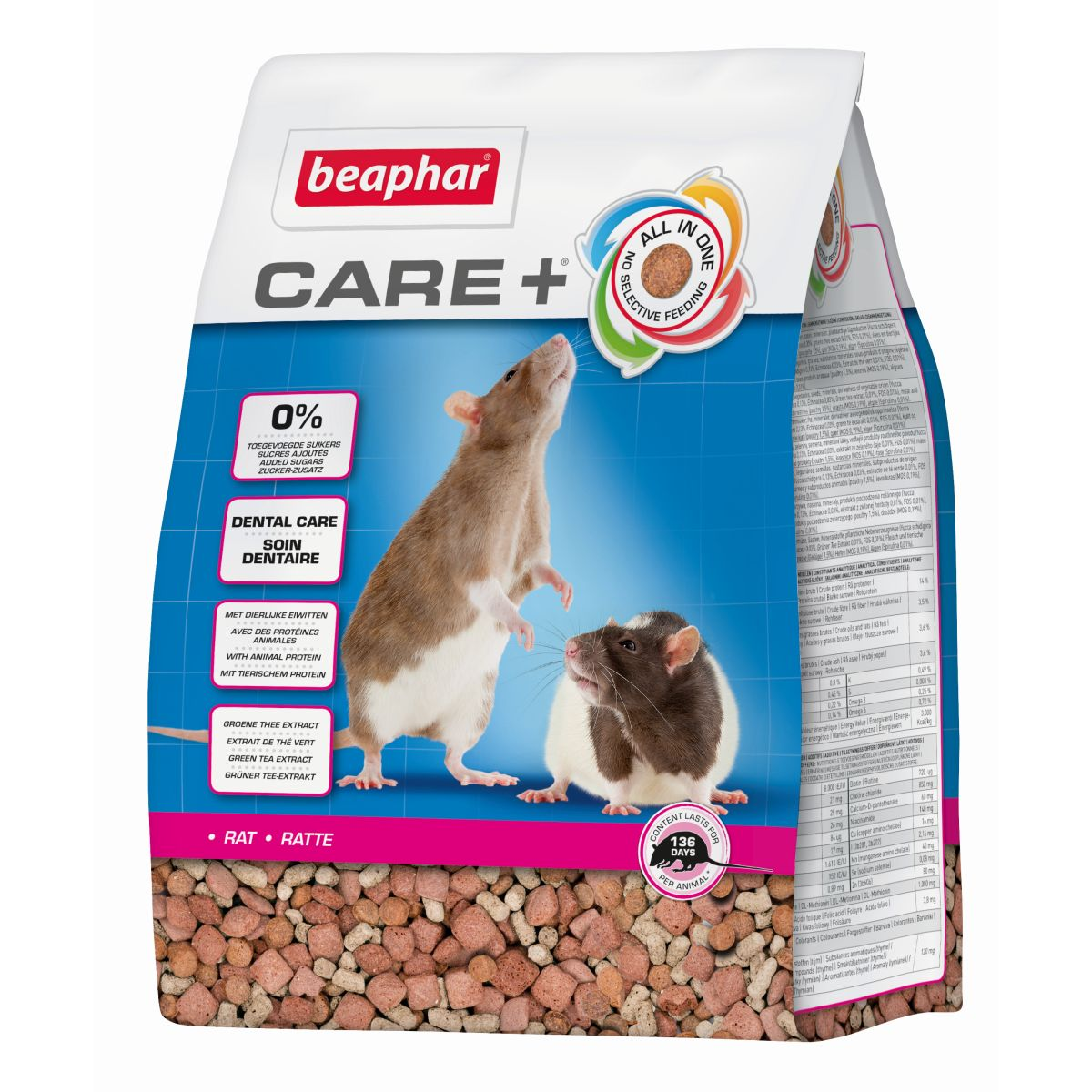 BEA CARE+ RAT 1,5KG 00001