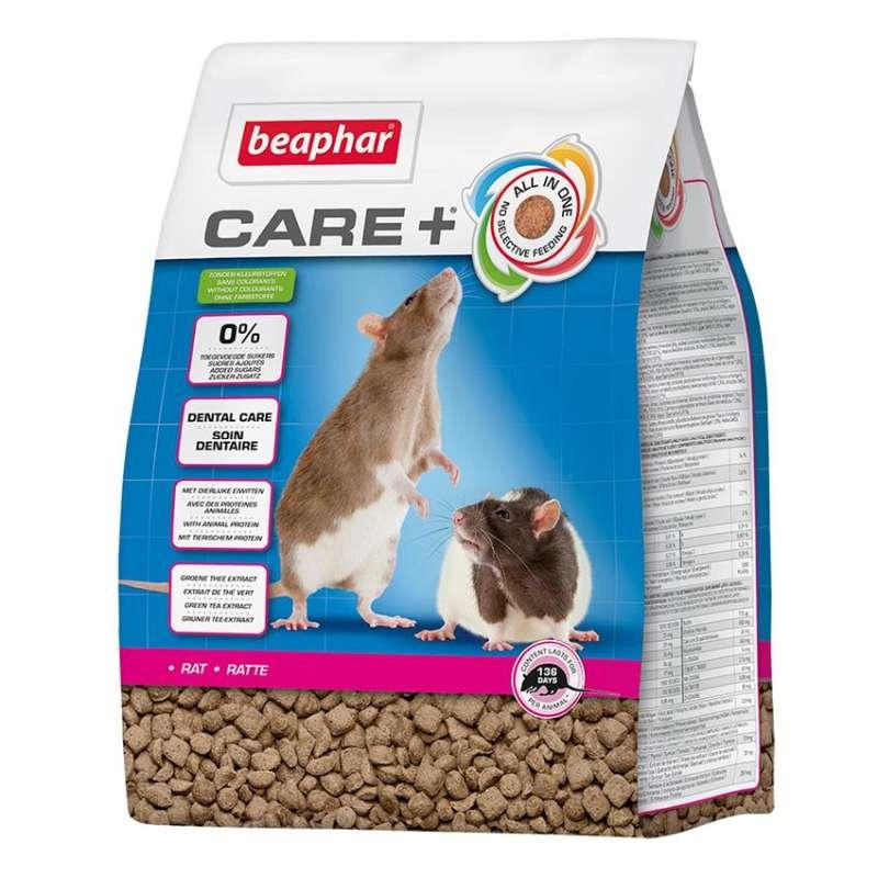 Beaphar - care+ rat meerkleurig 1,5 kg