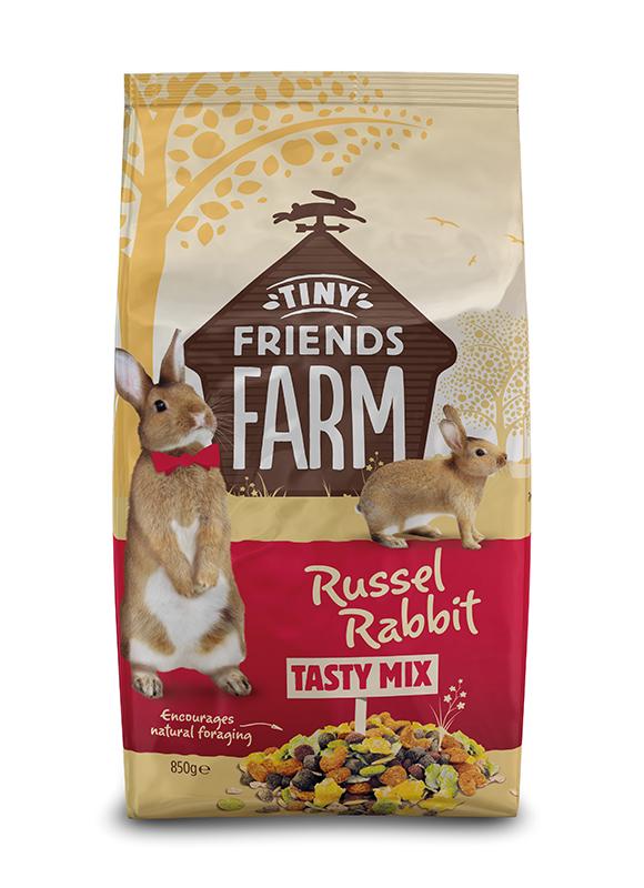 Tiny friends farm - russel rabbit meerkleurig 850 gr