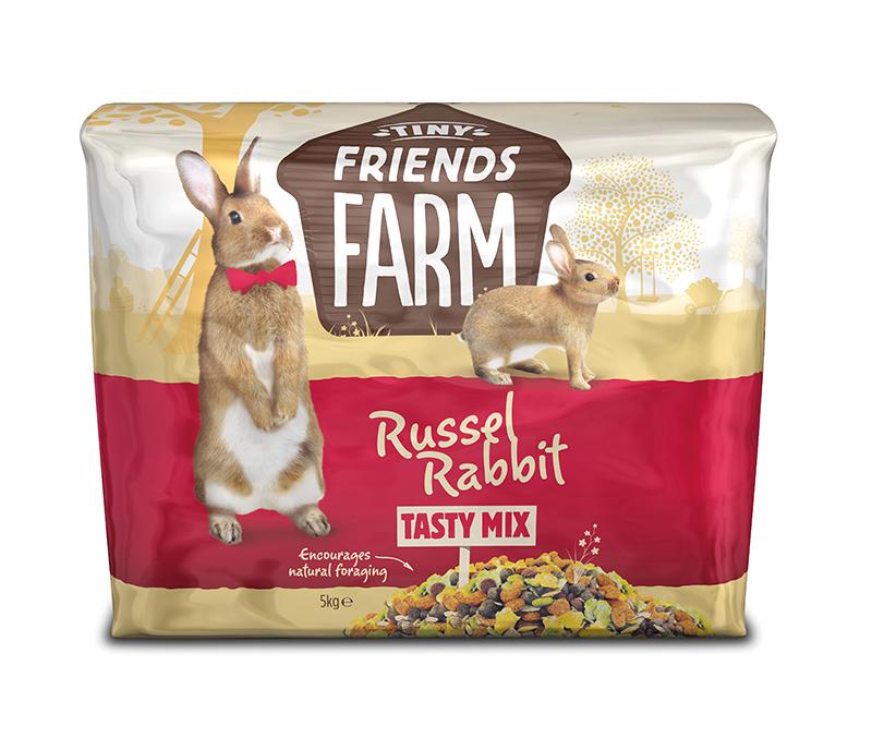 Tiny friends farm - russel rabbit meerkleurig 5 kg