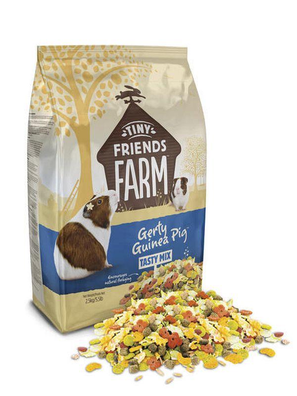 Tiny friends farm - gerty guinea pig meerkleurig 2,5 kg