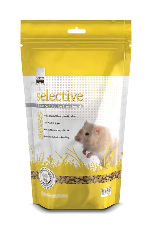 Selective hamster meerkleurig 350 gr