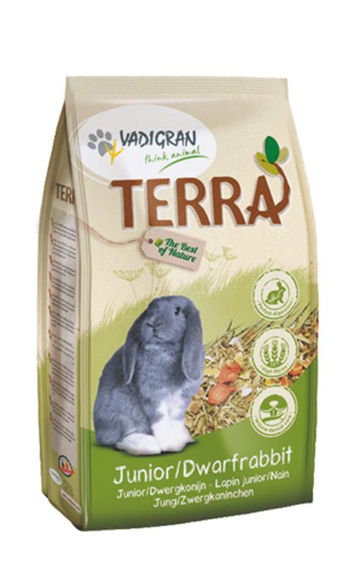 Productafbeelding voor 'Terra - dwergkonijn en junior meerkleurig 1 kg'