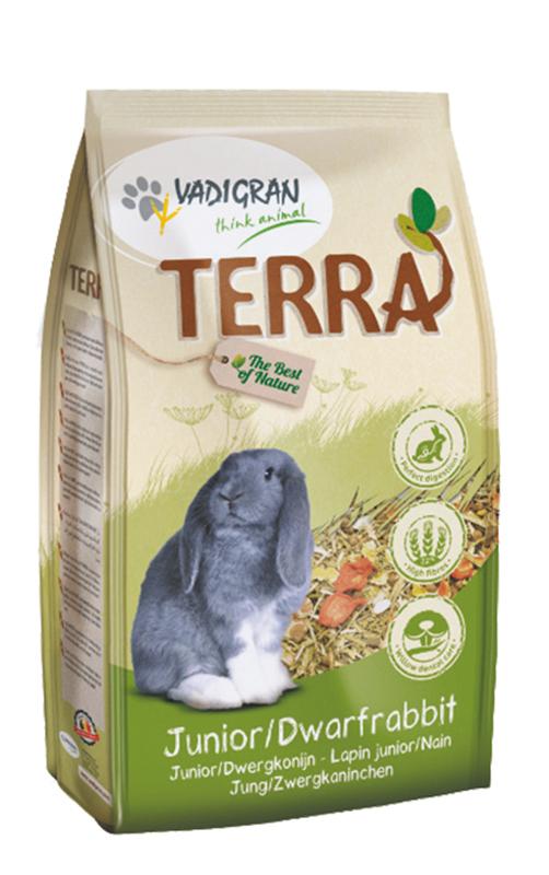 Productafbeelding voor 'Terra - dwergkonijn en junior meerkleurig 2,25 kg'