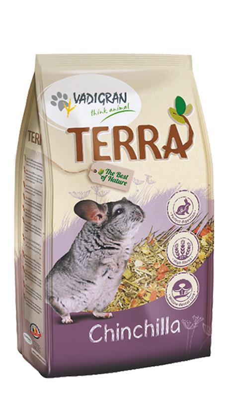 Productafbeelding voor 'Terra - chinchilla meerkleurig 1 kg'