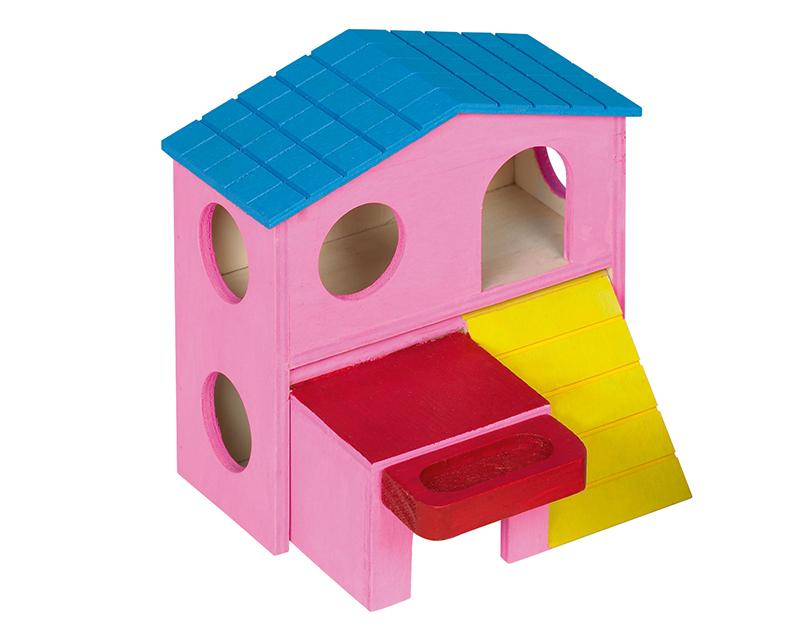 Nobby - huisje divers hout roze