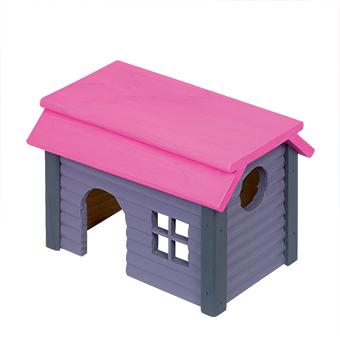 Nobby - huisje vierkant hout paars