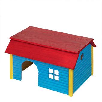Nobby - huisje vierkant hout blauw