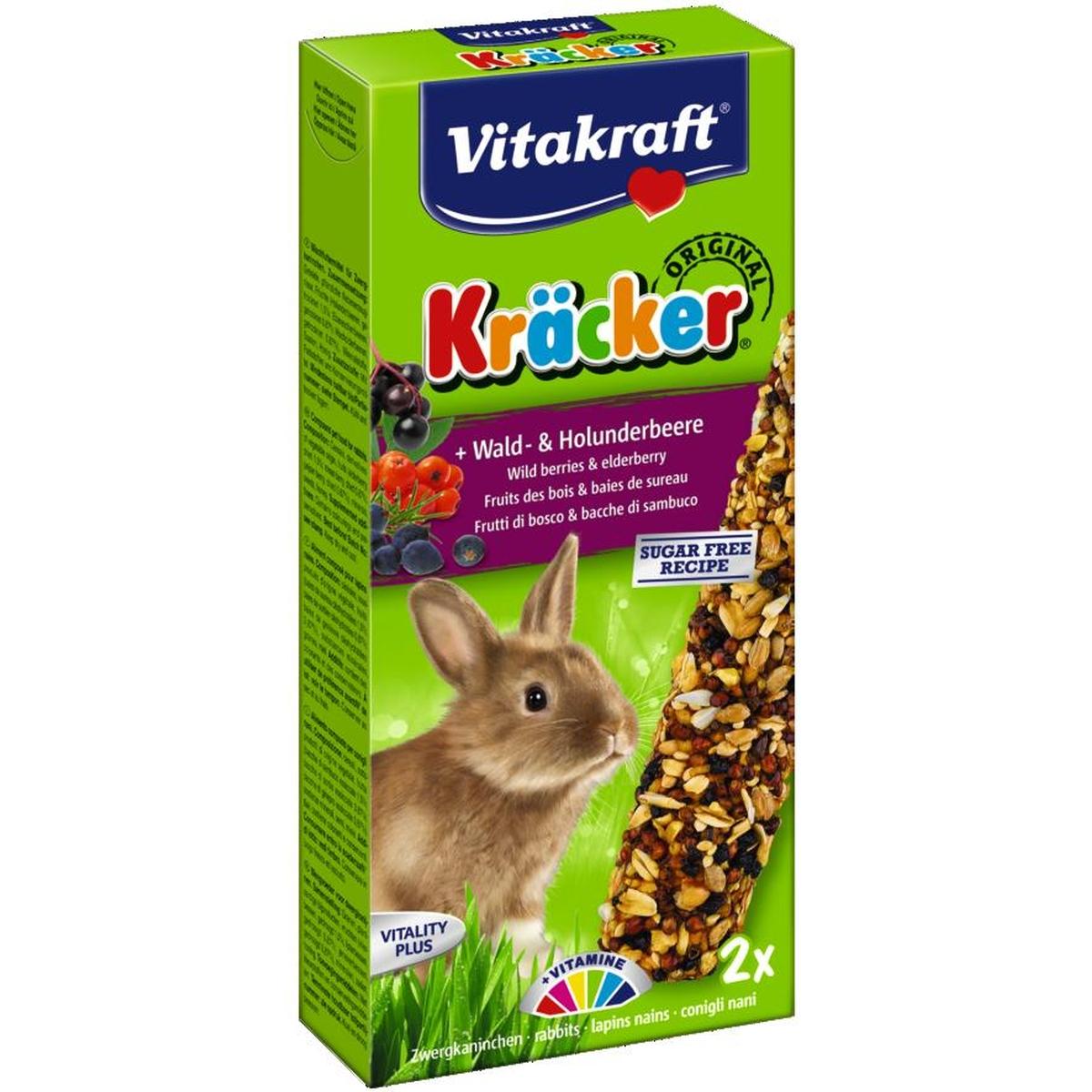 Vitakraft - konijnkracker 2 in 1 meerkleurig 160 gr