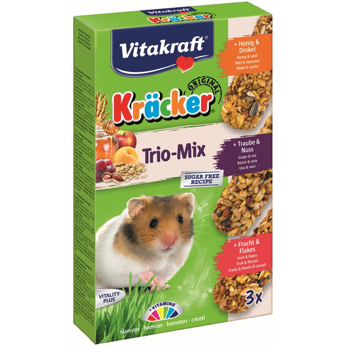Kracker trio-mix hamster meerkleurig 3 st