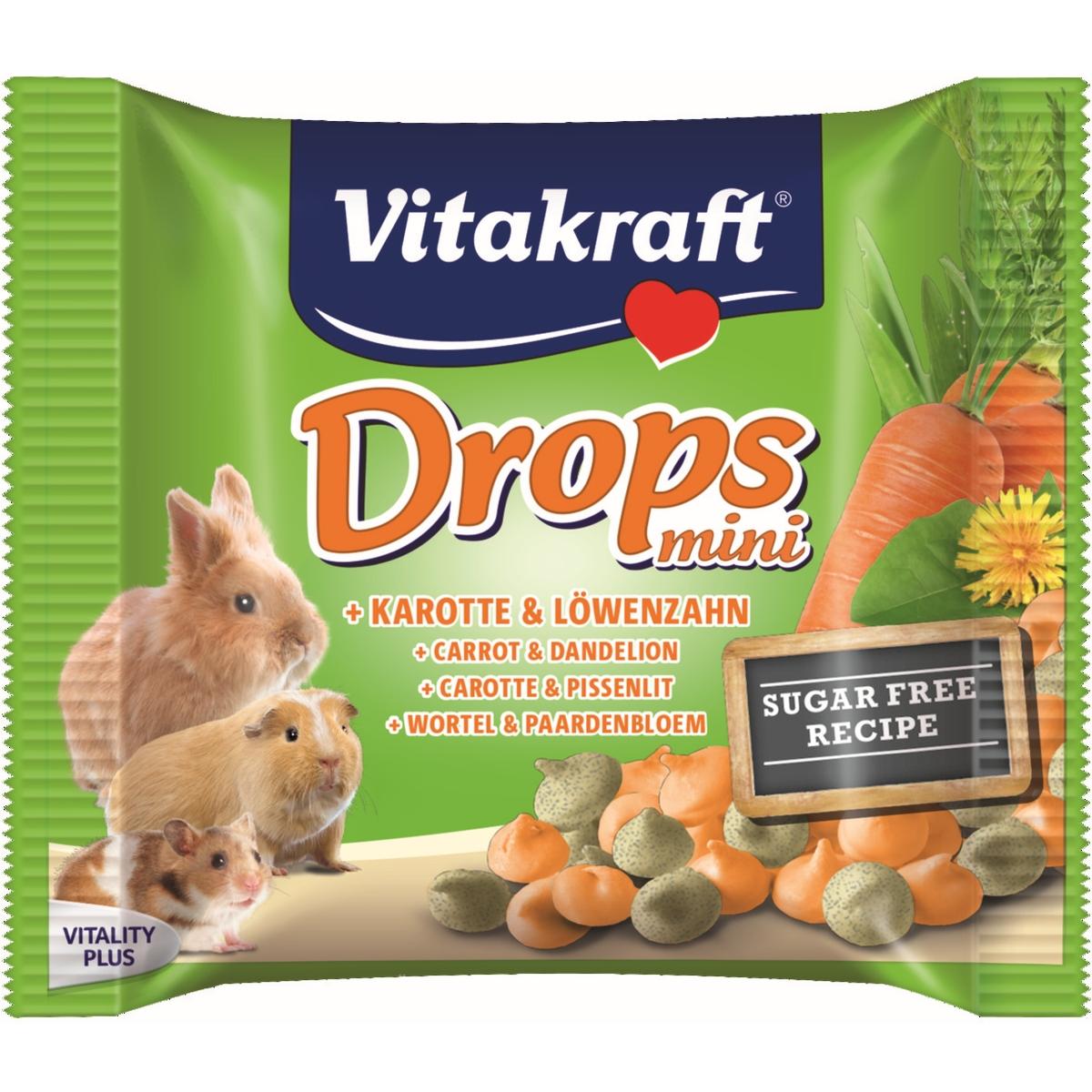 Drops voor knaagdier en konijn meerkleurig 40 gr
