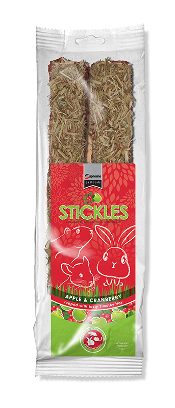Tiny friends farm - stickle apple & cranberry meerkleurig 100 gr
