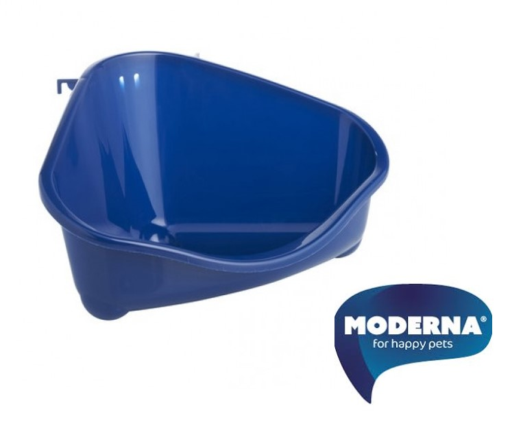 Moderna - hoektoilet voor konijn en knaagdier donker blauw