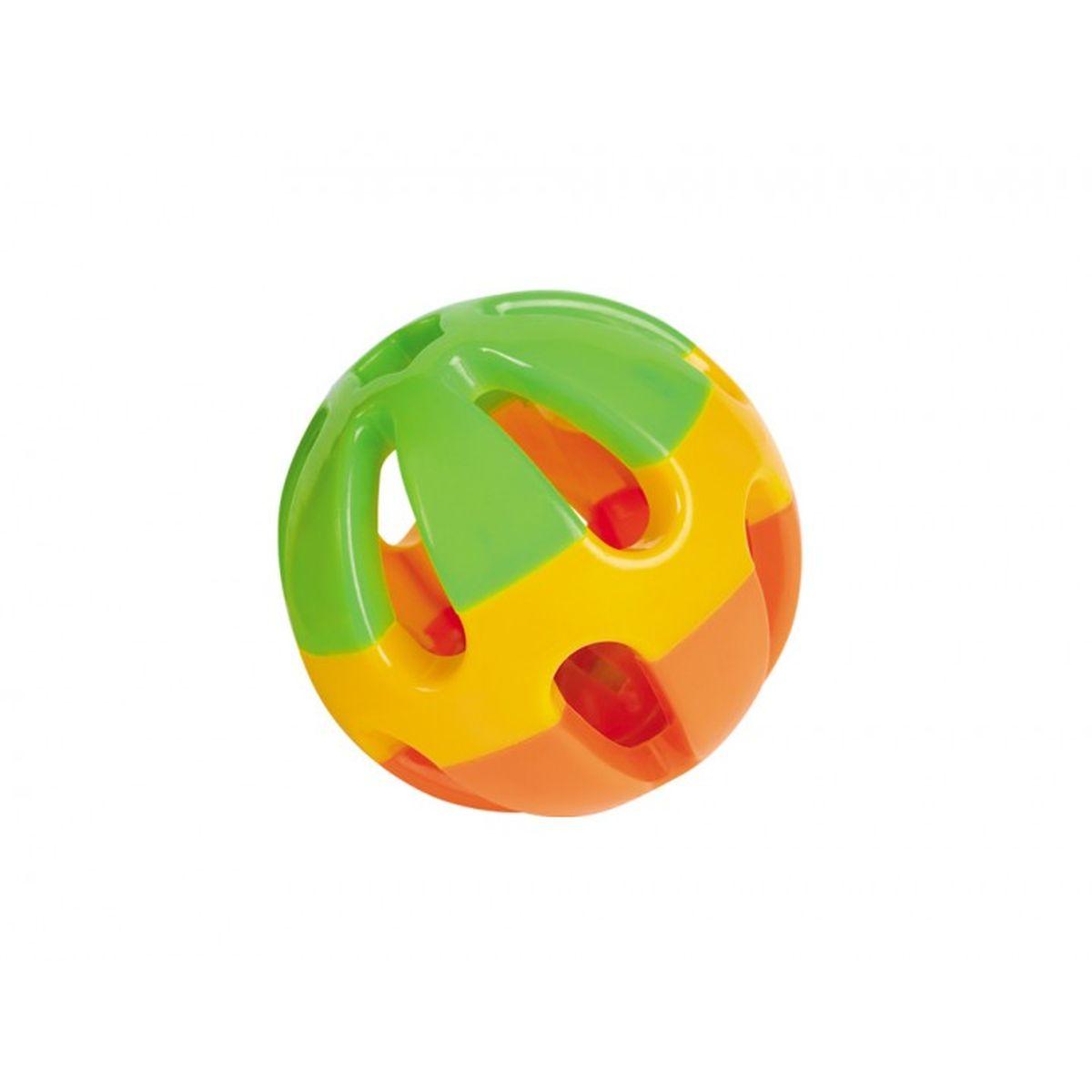 Speelbal met geluid oranje