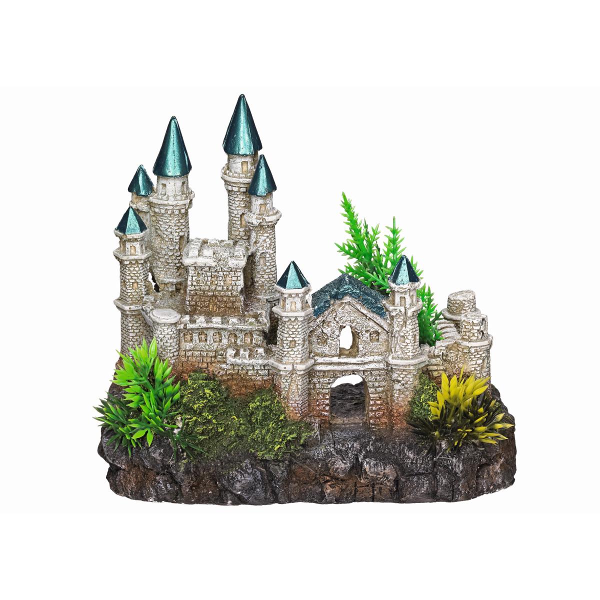 Aqua deco kasteel meerkleurig