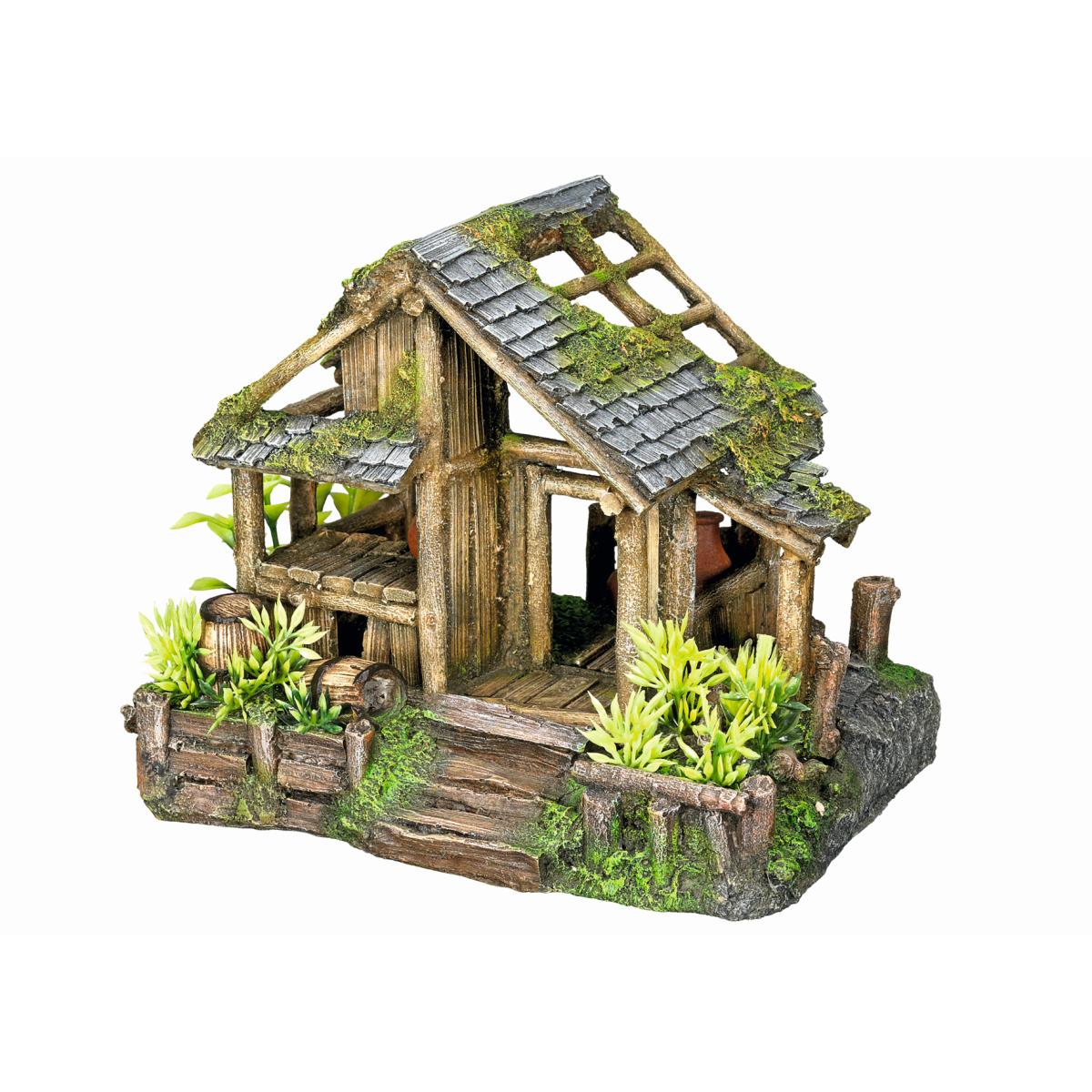 Aqua deco house with plants meerkleurig