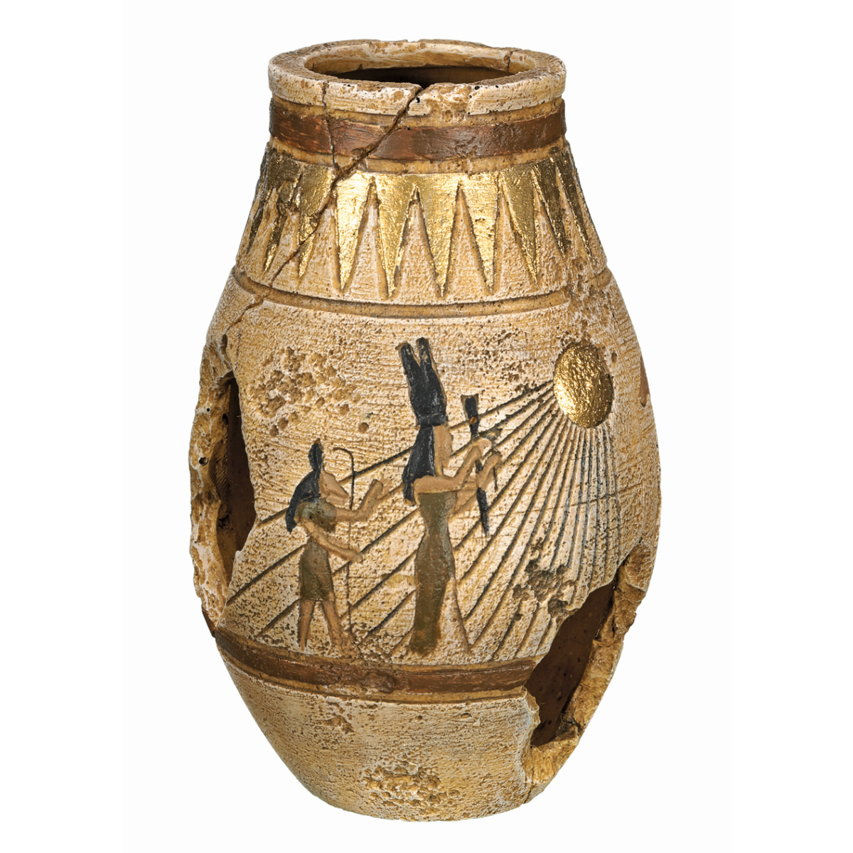 NB EGYPTIAN JAR 80X80X125MM 00001