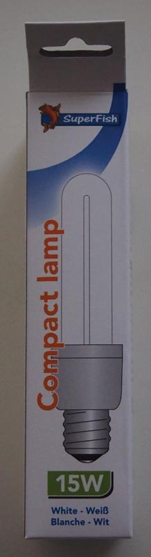 SF COMPACT LAMP 15W-AQUA 45 N 00001