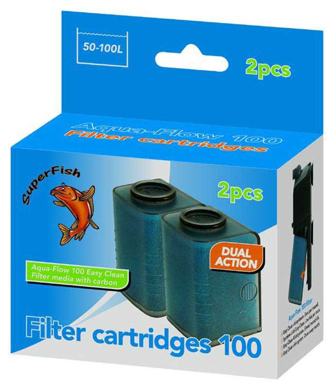 Superfish - 100 easy click cassette blauw 2 st
