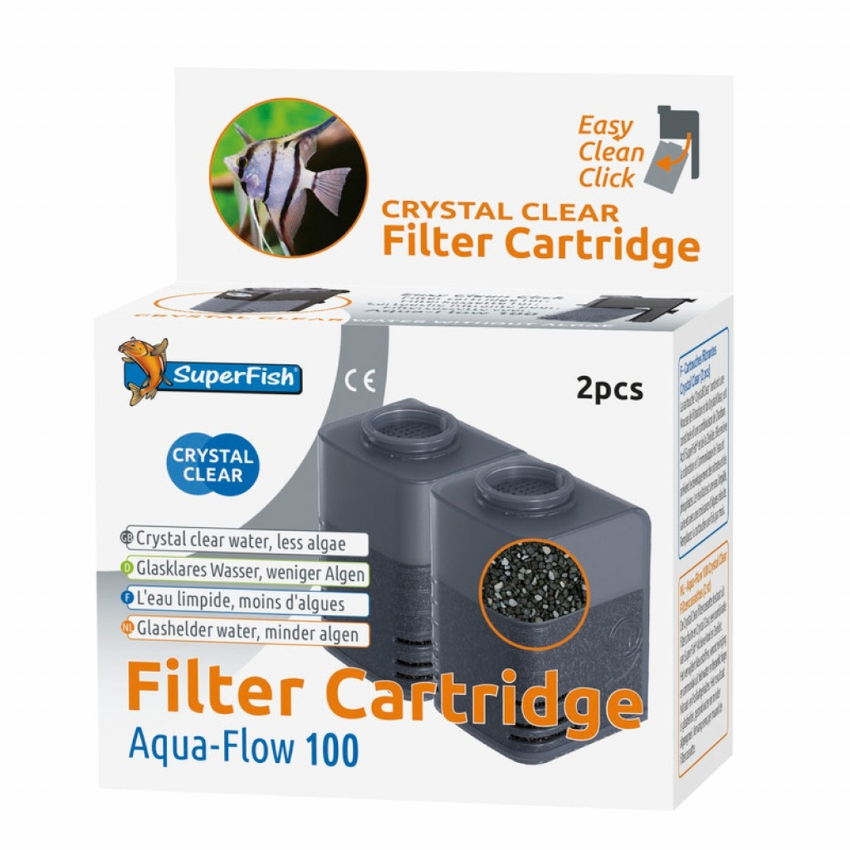 Superfish - 100 crystal clear refill zwart 2 st