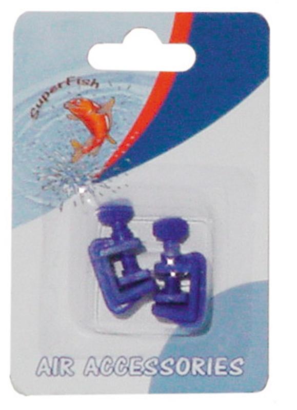 Superfish - luchtslang klem 2 blauw 2 st