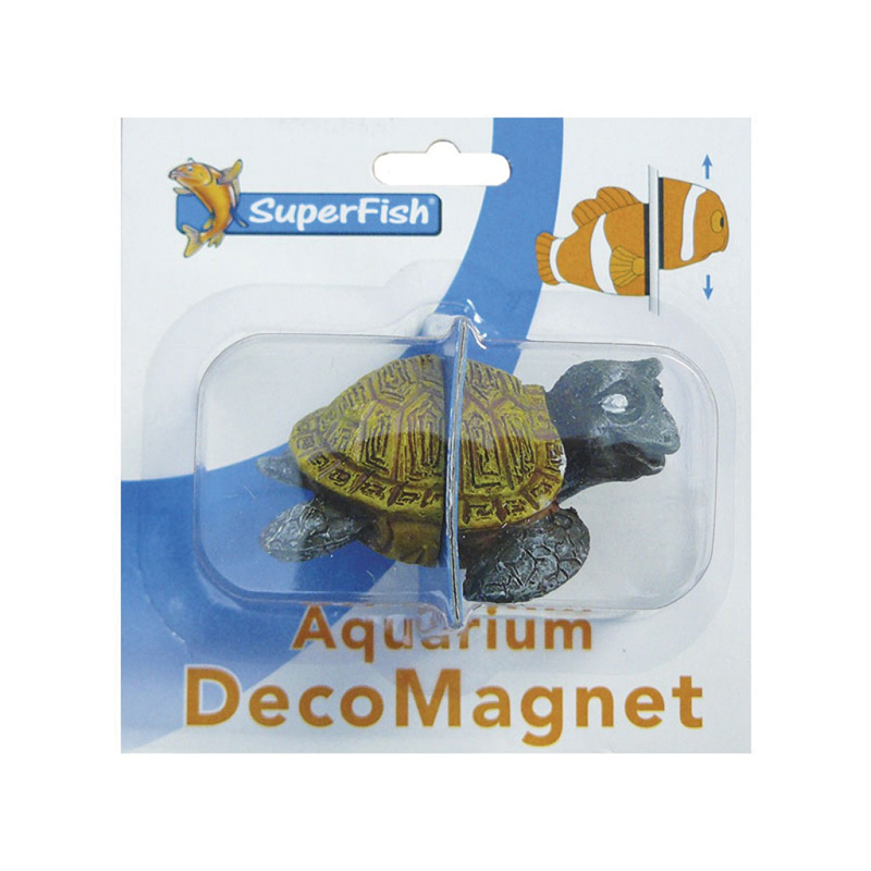 Superfish - turtle deco magneet bruin