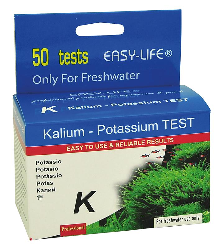 Kalium water tests meerkleurig