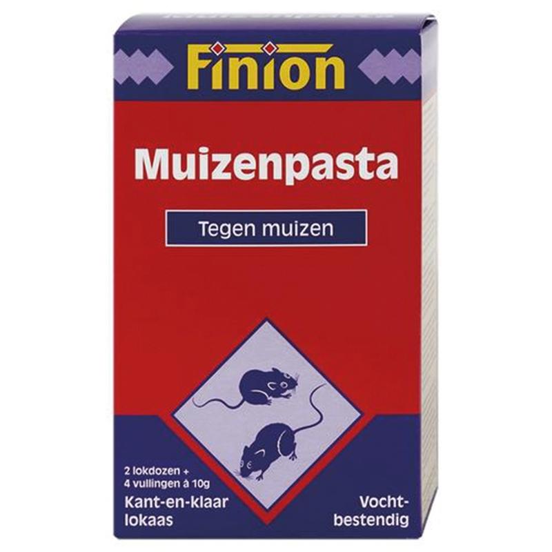 Finion - muizenpasta 4 pads meerkleurig 10 gr