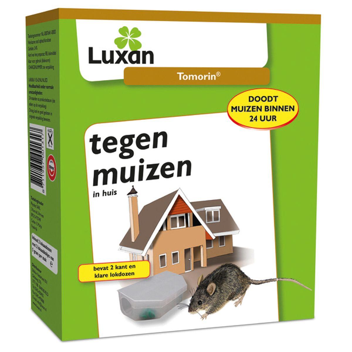 Luxan Tomorin Tegen Muizen met twee gratis voerdoosjes