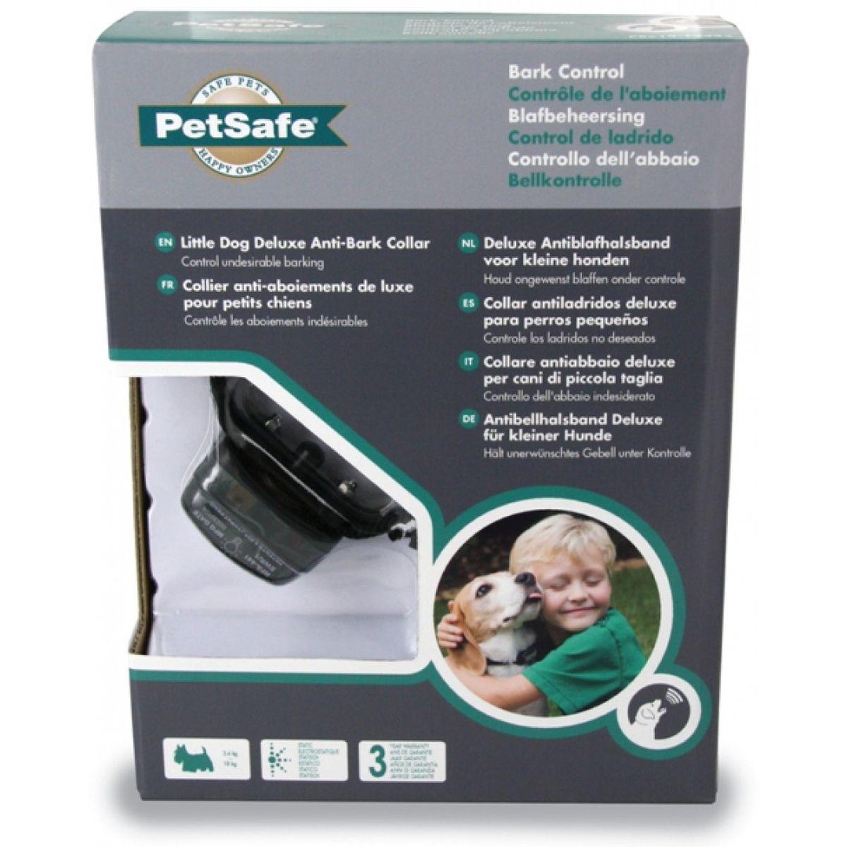 Deluxe antiblafhalsband kleine hond zwart