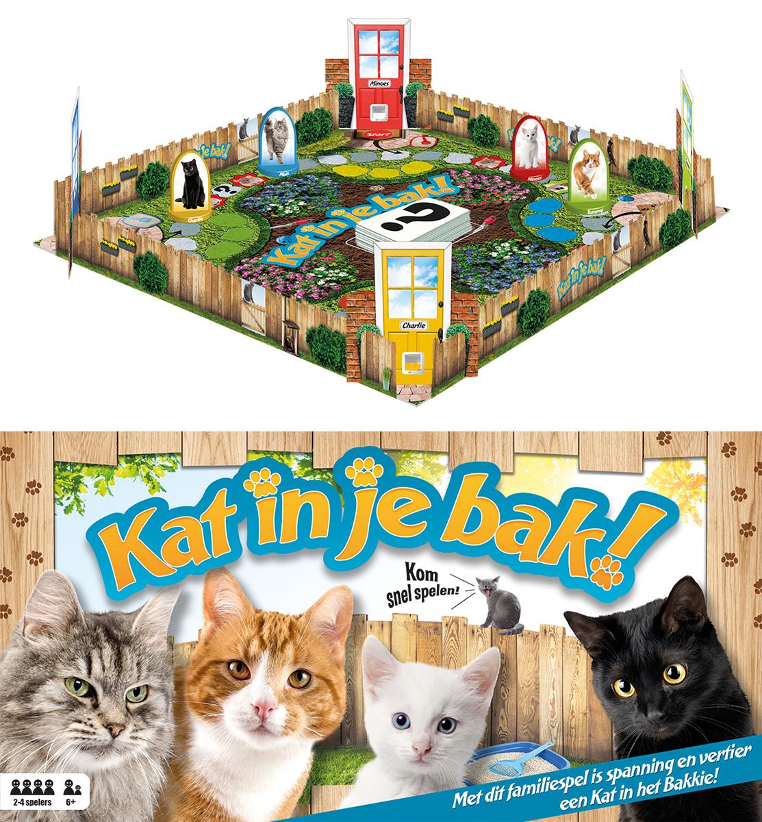 Bordspel kat in je bak meerkleurig