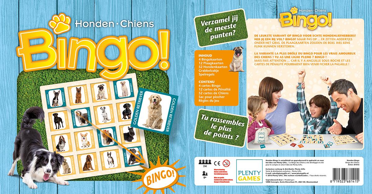 Bingo spel hond meerkleurig