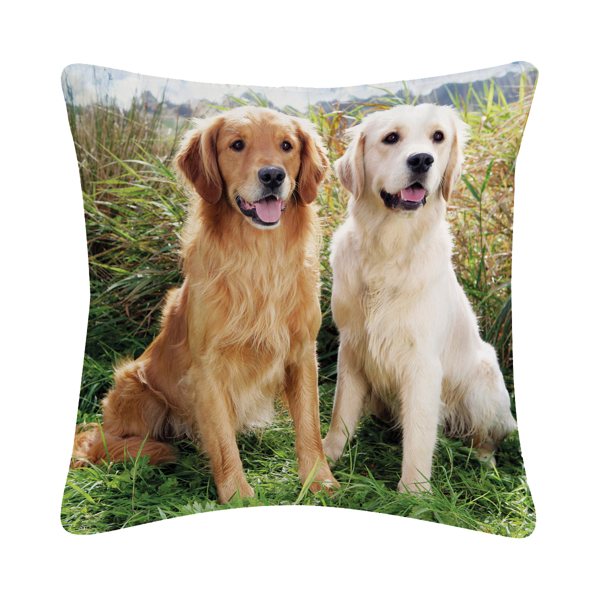Studio pets - decoratiekussen golden retriever meerkleurig