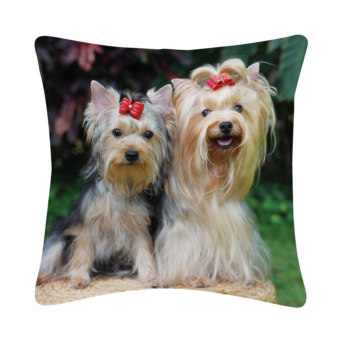 Studio pets - decoratiekussen yorkshire terrier meerkleurig