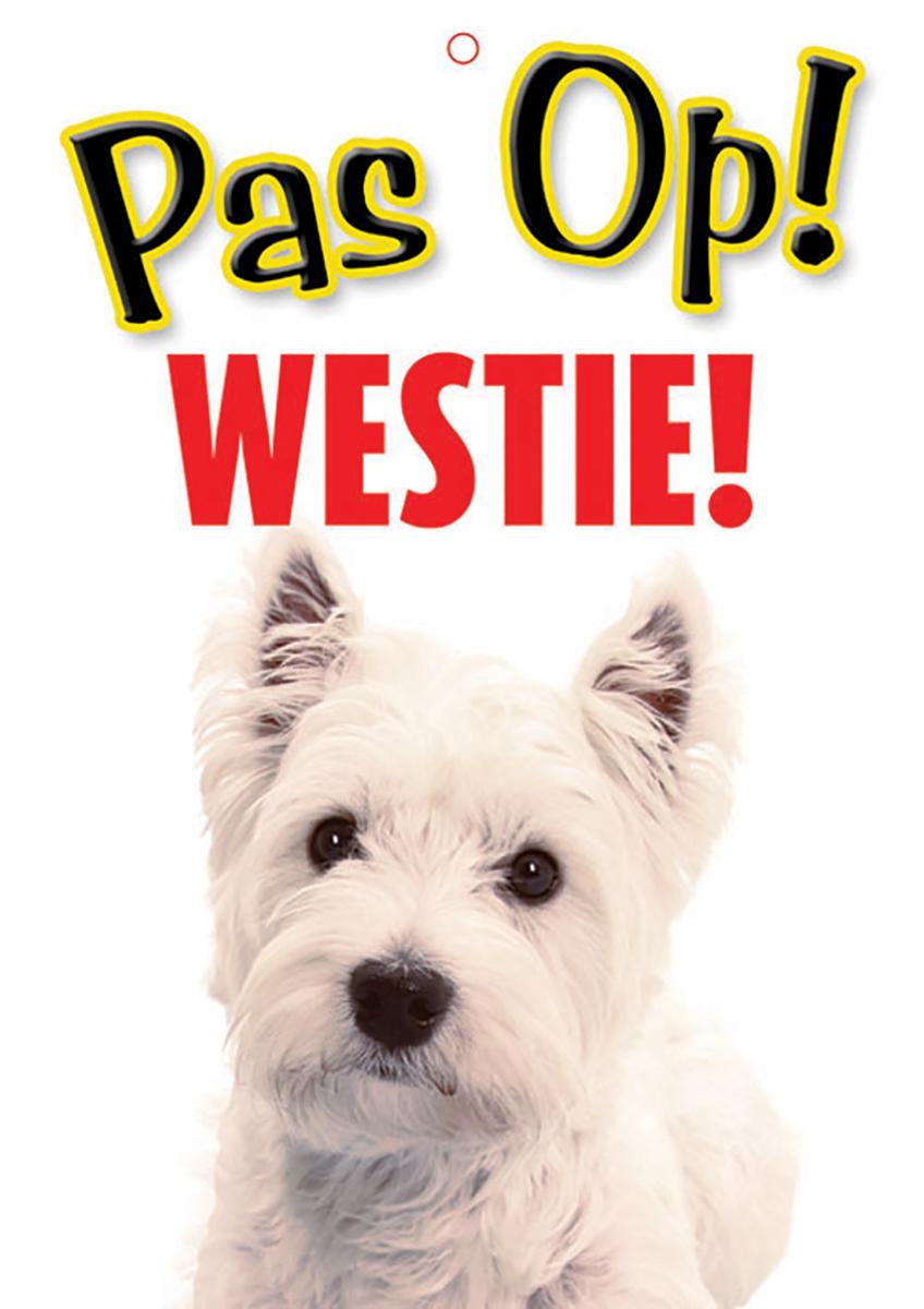 Studio pets - waakbord pas op! westie! meerkleurig