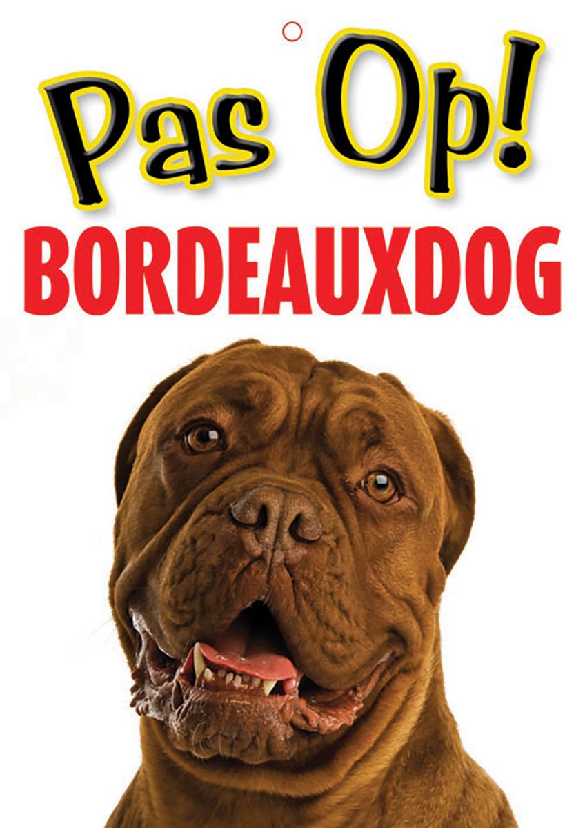 Studio pets - waakbord pas op! bordeaux dog meerkleurig