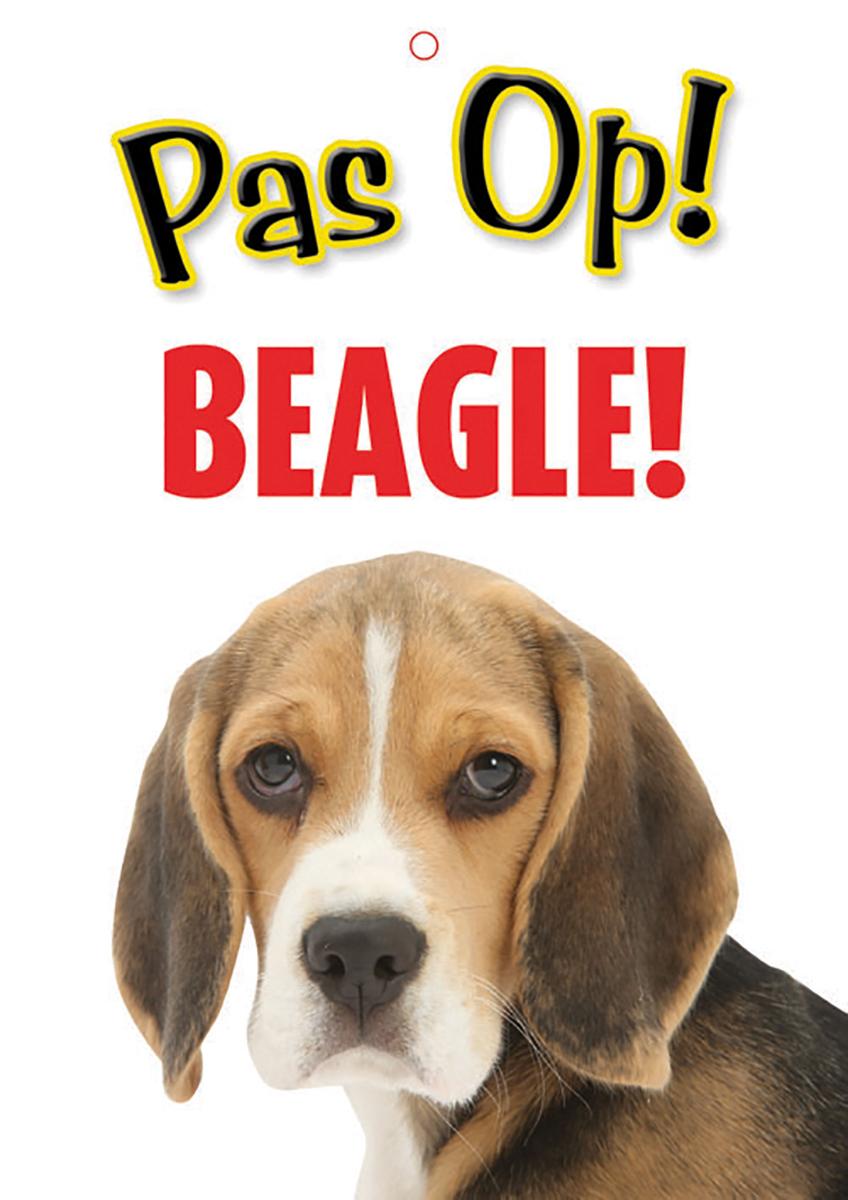 Studio pets - waakbord pas op! beagle! meerkleurig