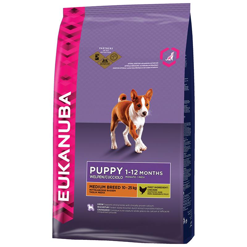 Eukanuba - puppy&junior medium breed 12 kg