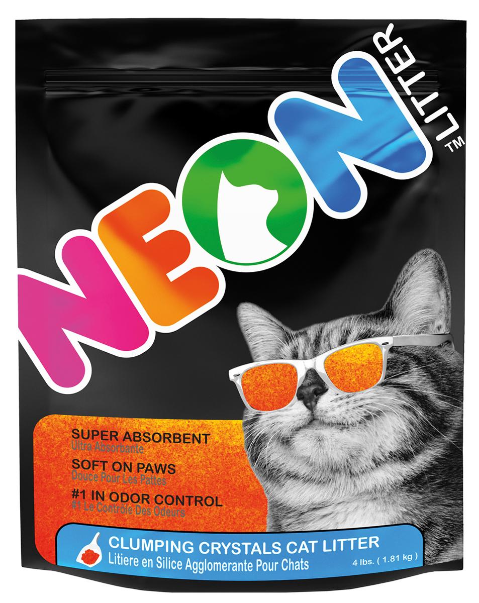 Neon litter - kattenbakvulling oranje 1,8 kg