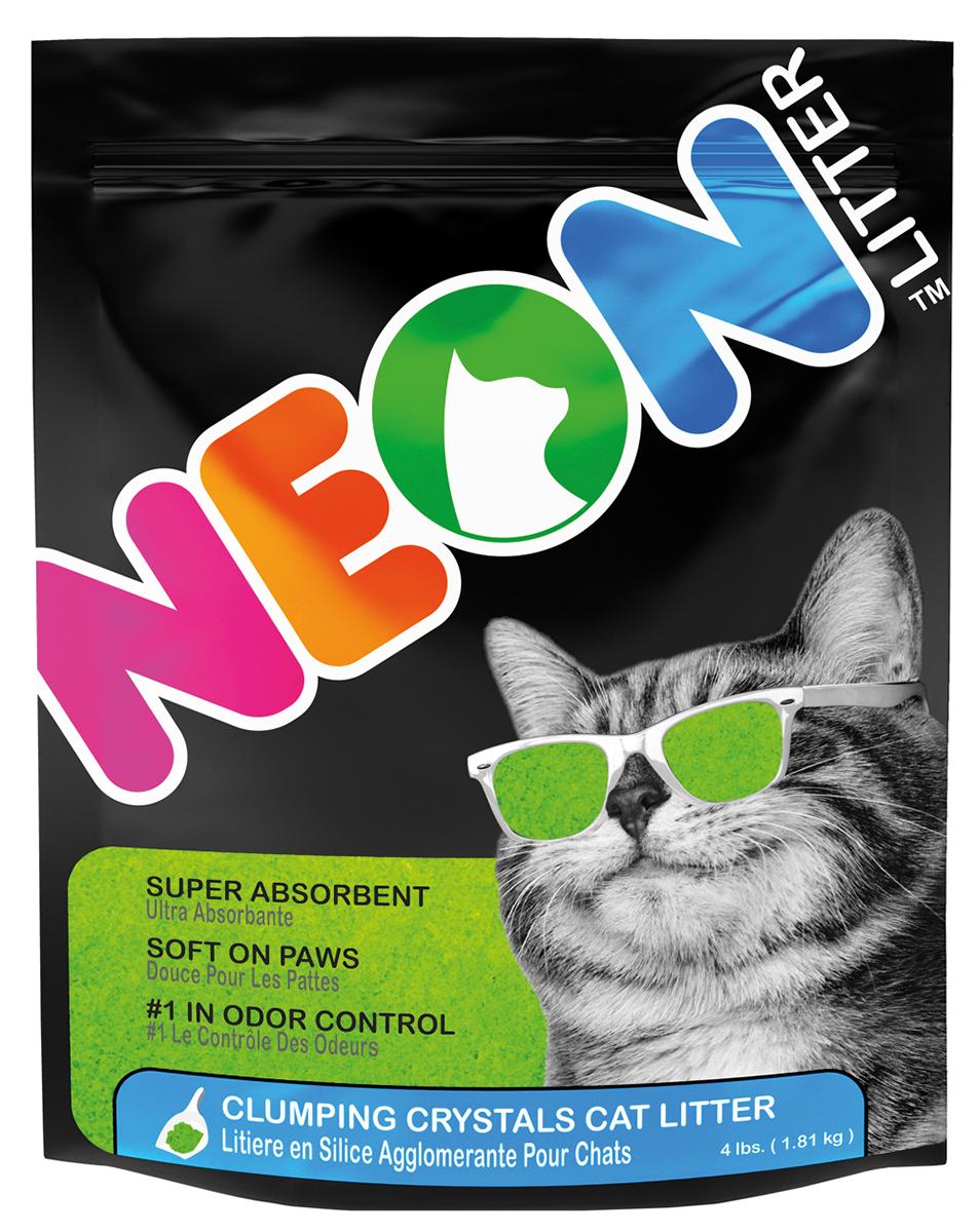 Neon litter - kattenbakvulling groen 1,8 kg